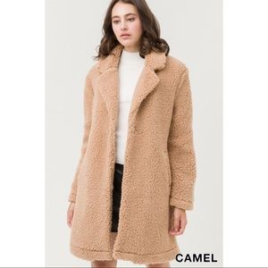 Teddy Bear Coat - Camel